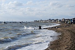 High tide at Thorpe bay. - geograph.org.uk - 1019079.jpg