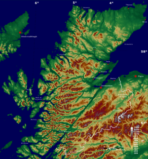 Highland (council area) - Image: Highland topo SRTM