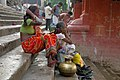 Hindu religious ceremony on the banks of Hooghly River in Kolkata, India.jpg