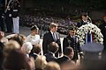 His Majesty King Willem-Alexander and Her Majesty Queen Máxima of the Netherlands lay a wreath at the Tomb of the Unknown Soldier in Arlington National Cemetery (18165951189).jpg