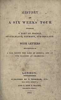<i>History of a Six Weeks Tour</i> 1817 book by Mary and Percy Bysshe Shelley