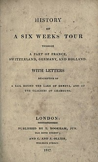 History of a Six Weeks' Tour cover