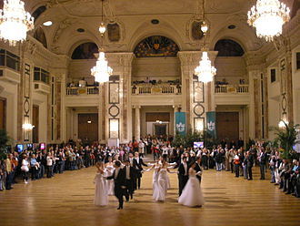 Cotillion - Cotillion figures demonstrated in the Festsaal, Hofburg, Vienna, in 2008