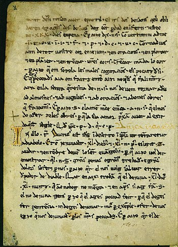 Homilies d'Organyà: First manuscript in Catalan