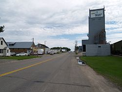 Near the grain elevator in Horace
