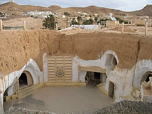 Star Wars (film) - Hotel Sidi Driss, the underground building in Matmata, Tunisia used to film Luke's home
