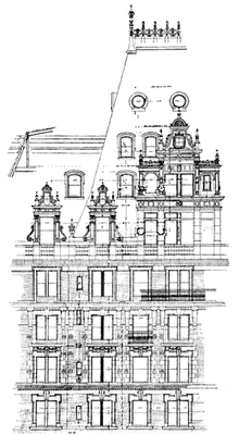 Diagram Of The Hotel Martinique Upper Part 32nd Street Elevation