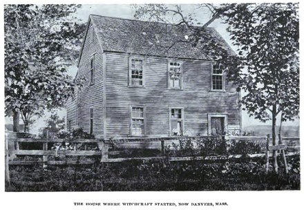The parsonage in Salem Village, as photographed in the late 19th century HouseWhereWitchcraftStarted.png