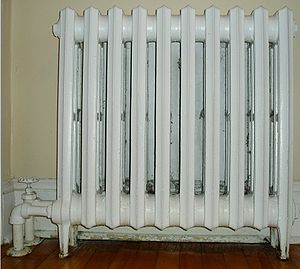 An old-style household radiator.