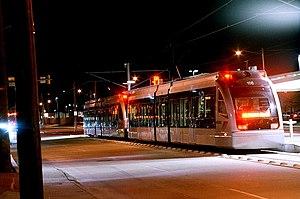 METRORail - Houston MetroRail Cars at Northline Transit Center on Fulton near Crosstimbers (January 2015)