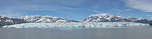 Hubbard Glacier - Panoramic view of the glacier
