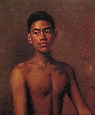 Hubert Vos - Image: Hubert Vos 'Iokepa, Hawaiian Fisher Boy'