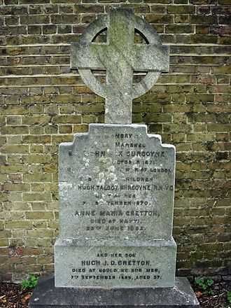 Hugh Burgoyne - Funerary monument, Brompton Cemetery, London