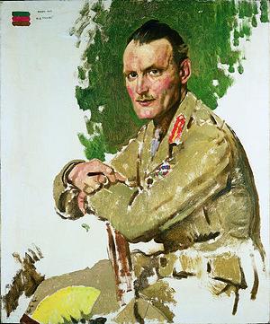 Hugh Elles - 1917 portrait by William Orpen.