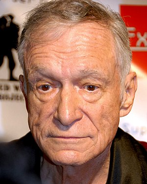 Hugh Hefner on the Red Carpet for a Wounded Wa...