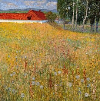 Hugo Baar - Image: Hugo Baar Eine Wiesenlandschaft mit Bauernhof