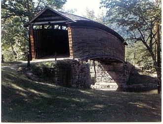 Humpback Covered Bridge - West entrance of bridge