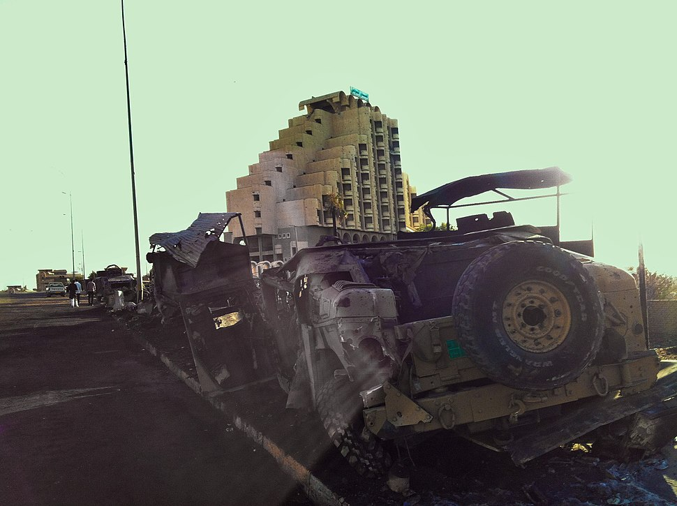 Humvee down after isis attack