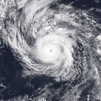 1989 Pacific hurricane season - Image: Hurricane Ismael Aug 19 1989 1801Z