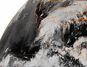 Hurricane Ismael - Hurricane Ismael making landfall