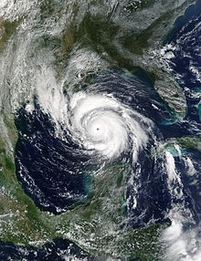Satellite imagery of the strongest hurricane of the 2002 Atlantic hurricane season in the Gulf of Mexico.