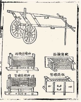 Rocket artillery - Illustration of a Korean rocket launcher of the 1500s