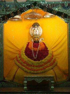 Idol of Lord Krishna in Khatushyam temple