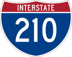 Interstate 210 shield