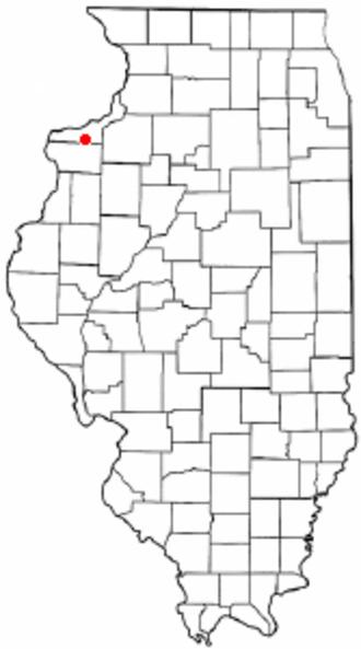 Reynolds, Illinois - Location of Reynolds, Illinois