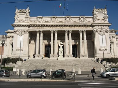 How to get to Galleria Nazionale D'Arte Moderna with public transit - About the place