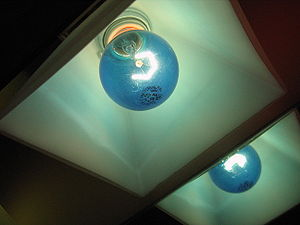 An image of one of my bathroom lights in Laure...
