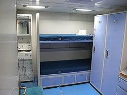 INS Shivalik Officers Cabin