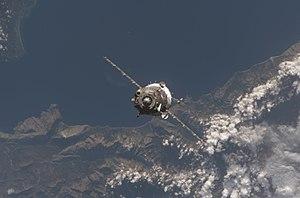 Soyuz TMA-11 - Soyuz TMA-11 spacecraft approaches the International Space Station.