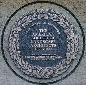 Campus of Iowa State University - Image: ISU Central Campus ASLA plaque