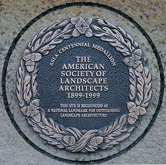 The medallion located in Central Campus, immediately to the west of Curtiss Hall ISU Central Campus ASLA plaque.jpg