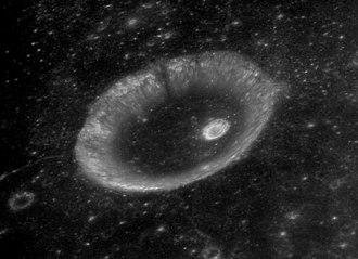 Ibn Battuta (crater) - Oblique view of Ibn Battuta from Apollo 16, facing south
