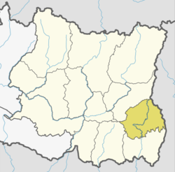 Location of Ilam