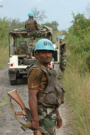 Madras Regiment - Troops from the Madras Regiment taking part in UN peacekeeping operations in the Democratic Republic of the Congo, in 2007