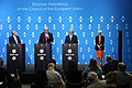 Informal meeting of ministers for agriculture and fisheries (AGRIFISH). Press conference Vytenis Andriukaitis, Phil Hogan and Tarmo Tamm (36854373666).jpg