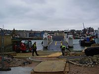 Installing new chain ferry, Cowes, IW, UK.jpg