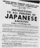 Poster of exclusion orders regarding Japanese-Americans