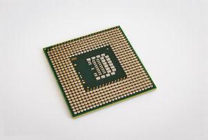 Socket P - Intel Core 2 Duo T9600 CPU showing Socket P