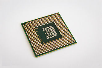 Socket P - Intel Core 2 Duo T9600 CPU showing Socket P