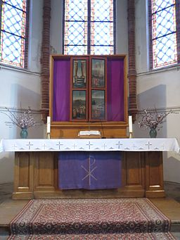 Interior of Bugenhagenkirche (Greifswald-Wieck) April 2014 002