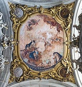 Interior of Santi Giovanni e Paolo (Venice) - The Glory of St. Dominic by Piazzetta