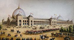 Exhibition palace of the world exhibition of 1862