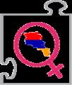 Interwiki women Armenian logo.png