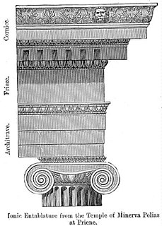 Entablature architectural element
