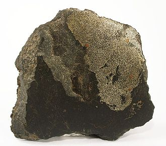 Telluric iron - Native iron from basalt quarry at Bühl, Weimar, Kassel, North Hesse, Hesse, Germany (size: 6.6 x 5.9 x 1.8 cm)