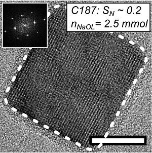 Self-assembly - Image: Iron oxide nanocube